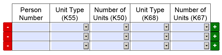 EBT-4 form - Incorrect unit type or number of units