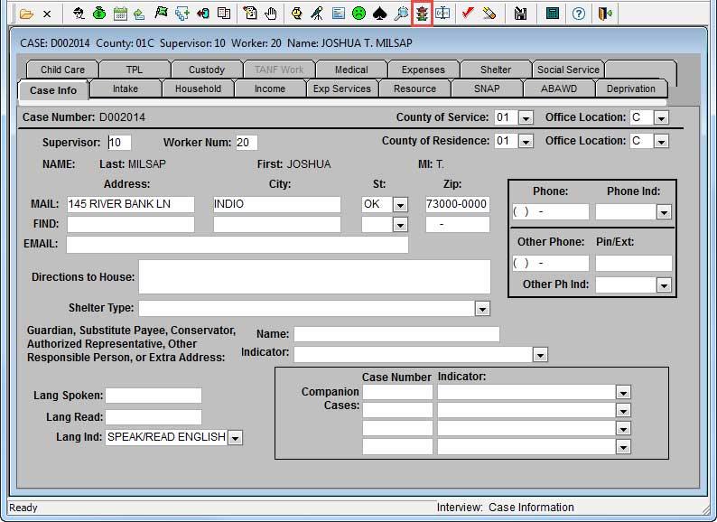 FACS toolbar with AVS icon highlighted
